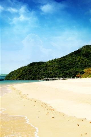 iPhone Wallpaper Dream beach and blue sky