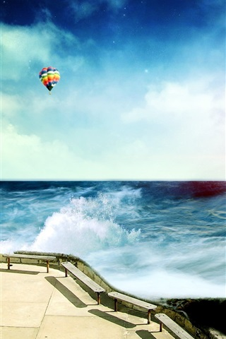 iPhone Papéis de Parede Sonho encantador do litoral