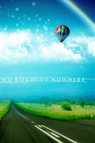 iPhone Wallpaper Dream world two roads to nowhere