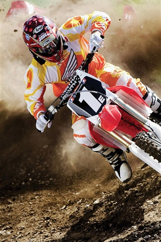 iPhone Wallpaper Dusty motorcycle race