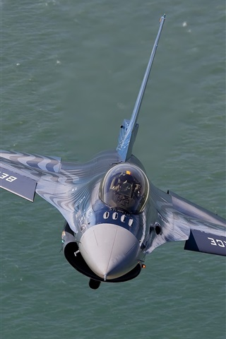 iPhone Wallpaper F-16 fighter air show