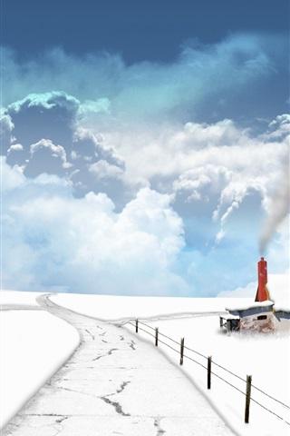 iPhone Papéis de Parede Fantasia de neve do inverno