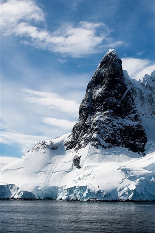 iPhone Wallpaper Ice and mountains landscape