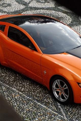iPhone 배경 화면 무스탕 오렌지 자동차