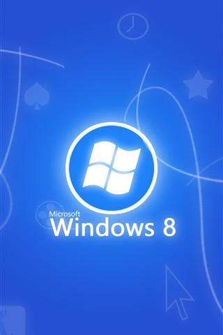 iPhone Papéis de Parede Windows 8 fundo azul