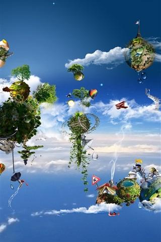 iPhone Wallpaper Wonderful creative air ecological home