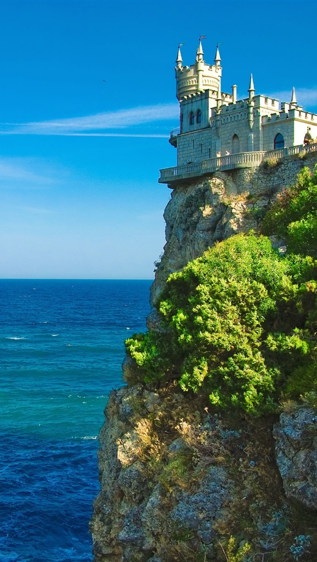 Wallpaper Castle On The Sea Cliff 2560x1600 Hd Picture Image