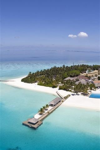 iPhone Papéis de Parede Maldivas Seychelles Ilha