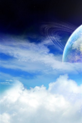 iPhone Wallpaper Planet of the ring cloud