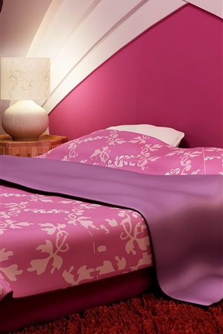 iPhone Wallpaper Purple style bedroom