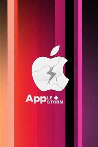 iPhone Papéis de Parede A Apple Tempestade