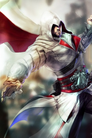 iPhone Wallpaper Assassin's Creed attack