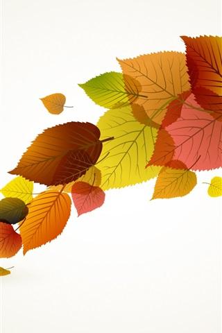 iPhone Обои Осенние листья вектор творческого