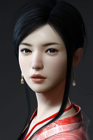 iPhone Wallpaper Beautiful girl in ancient China