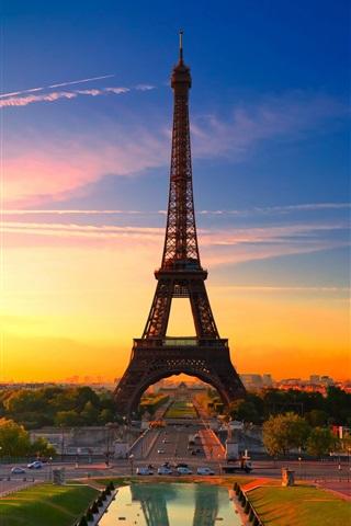 iPhone Papéis de Parede Cidade de Paris, França, Torre Eiffel