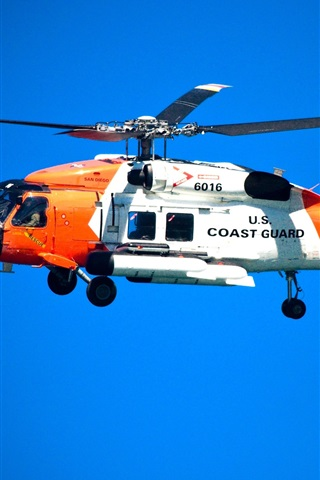 iPhone Wallpaper Coast Guard helicopter