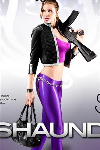 iPhone Papéis de Parede Menina em Saints Row: The Third