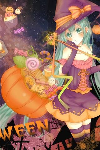 iPhone Wallpaper Halloween anime girl