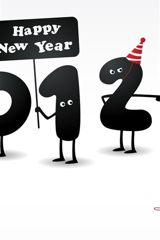 iPhone Wallpaper Happy New Year 2012, 2011 has ended
