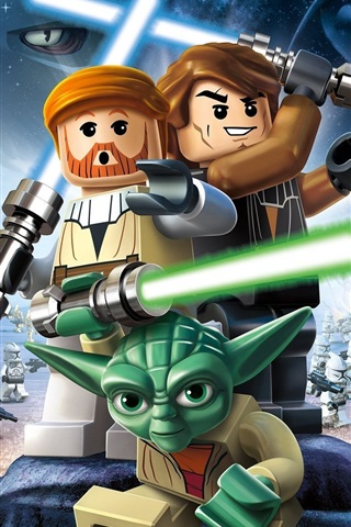Lego Star Wars Iii The Clone Wars 640x1136 Iphone 5 5s 5c Se Wallpaper Background Picture Image