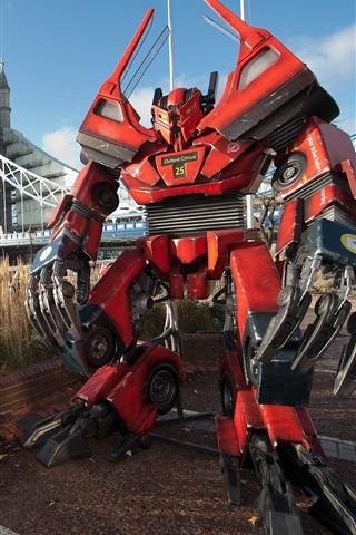 iPhone Papéis de Parede Robô Transformadores em Londres criativo