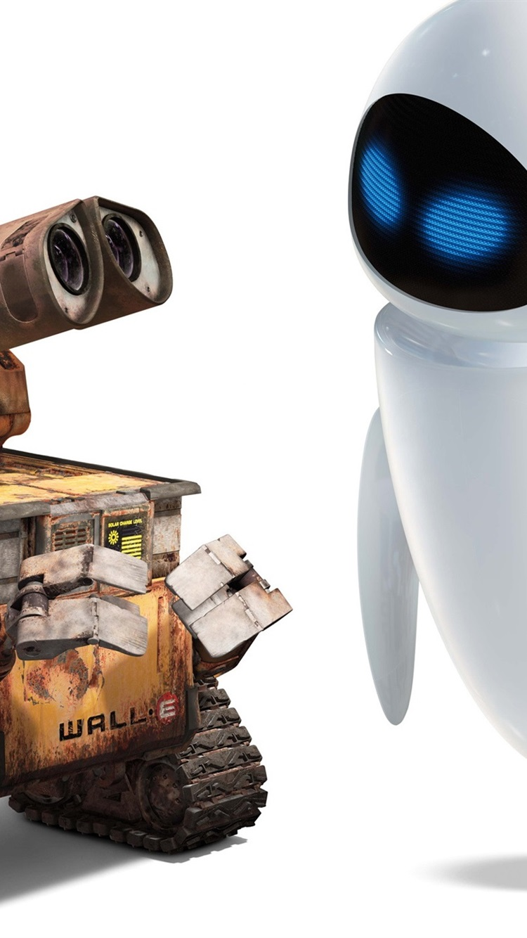 Wall E Robot Valli And Eve Friendship 750x1334 Iphone 8 7 6 6s Wallpaper Background Picture Image
