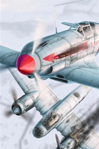iPhone Wallpaper Winter aircraft air combat