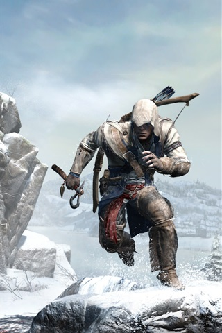 iPhone Wallpaper Assassin's Creed 3 wide