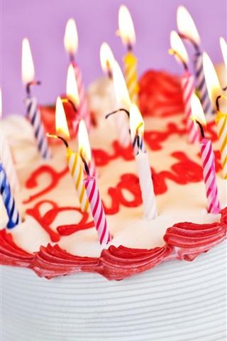 iPhone Обои Вкусный торт день рождения