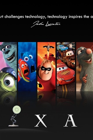 iPhone Wallpaper PIXAR cartoon movie star