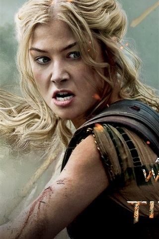 iPhone Wallpaper Rosamund Pike in Wrath of the Titans