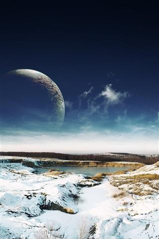 iPhone Papéis de Parede O mundo de fantasia de gelo e neve