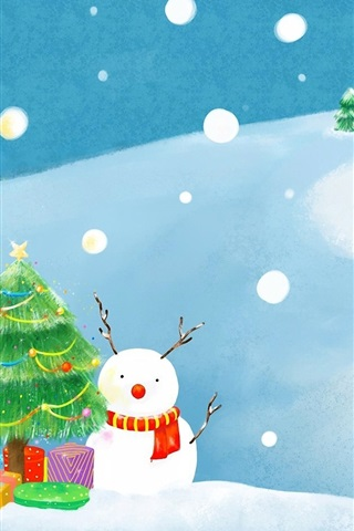 iPhone Wallpaper Winter Christmas exquisite paintings
