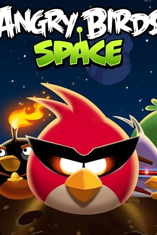 iPhone Wallpaper Angry Birds Space