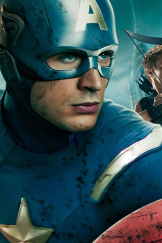 iPhone Wallpaper Captain America in The Avengers HD