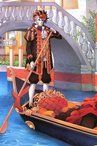 iPhone Wallpaper Halloween boat anime girl