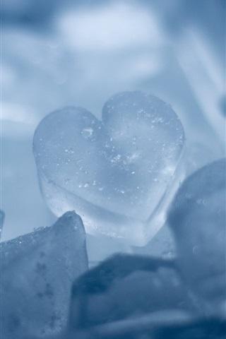 iPhone Wallpaper Ice Heart