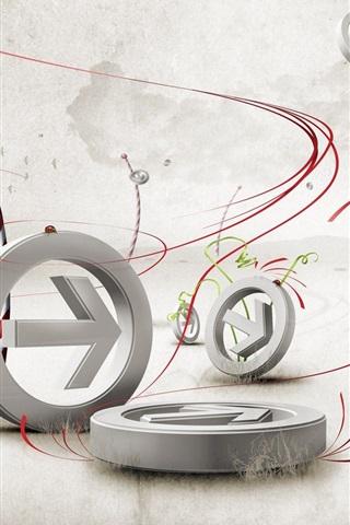 iPhone Wallpaper 3D arrows design