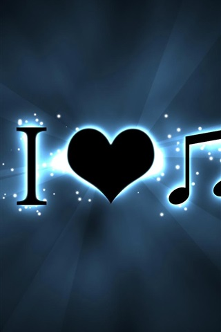 iPhone Wallpaper Creative I love music