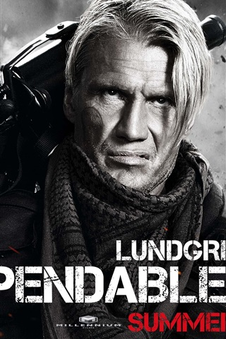 iPhone Wallpaper Dolph Lundgren in The Expendables 2
