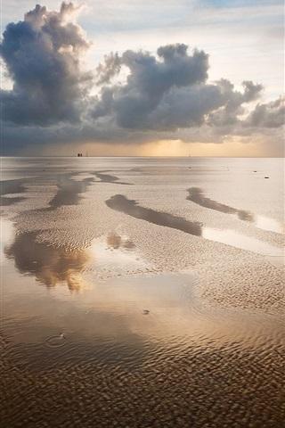 iPhone Wallpaper German landscape, boundless waters
