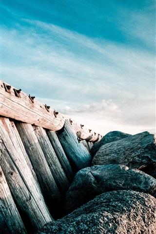 iPhone Wallpaper Old Beach pier