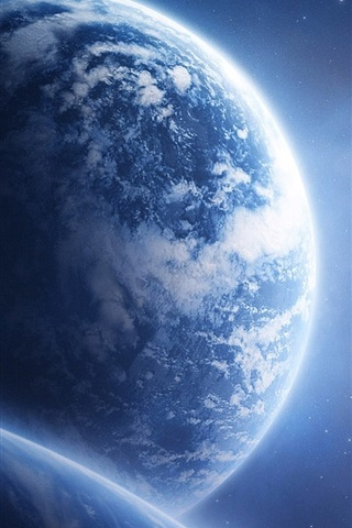 Planet Earth Space 640x960 Iphone 4 4s Wallpaper Background