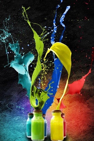 iPhone Wallpaper Splash of watercolor paint