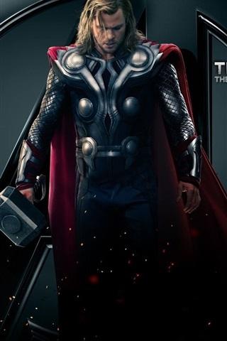 iPhone Wallpaper Thor, The god of thunder, The Avengers