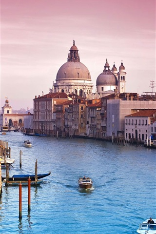 iPhone Wallpaper Venice Italy canal water city buildings