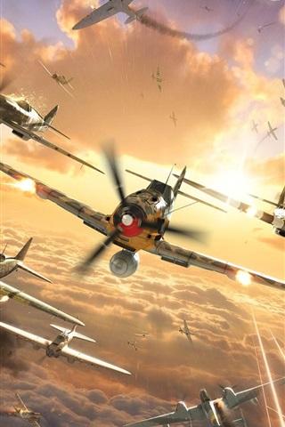 iPhone Papéis de Parede Mundial de Aviões de guerra