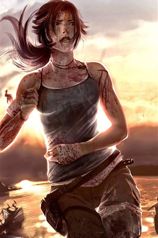 iPhone Wallpaper 2012 Tomb Raider HD