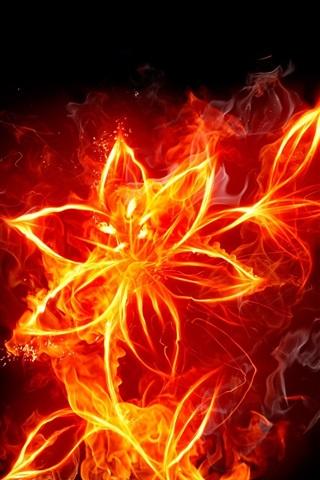 iPhone Wallpaper A fire flowers creative