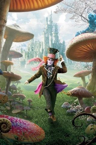 iPhone Hintergrundbilder Alice im Wunderland HD